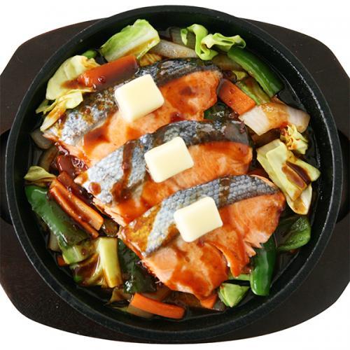 鮭の旨辛チャンチャン焼き
